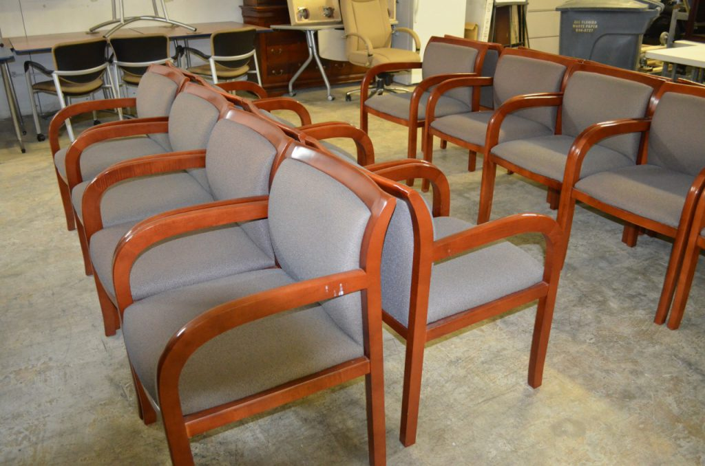 Wood Frame Waiting Room Chairs
