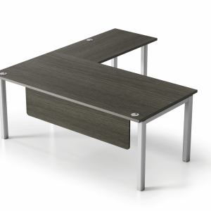 "VL 6' x 6'6"" Metal & Laminate L-Shape Desk"