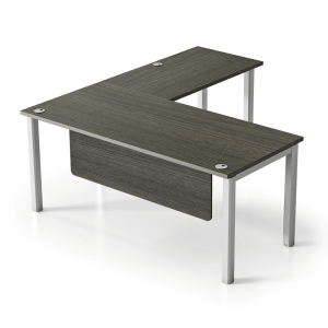 "VL 5'6"" x 6' Metal & Laminate L-Shape Desk"