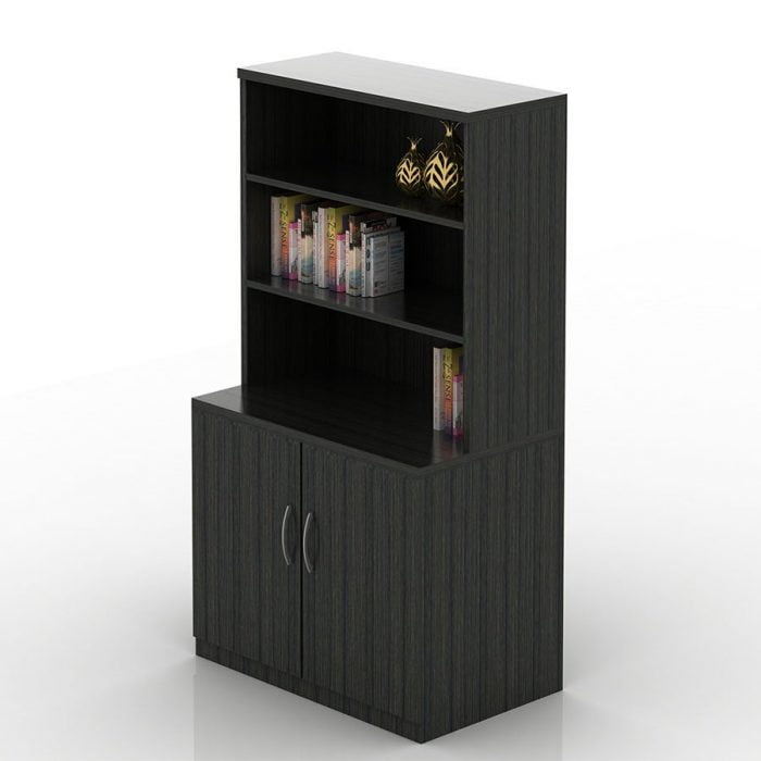 OFW TL 2 Door Storage Cabinet with Open Hutch