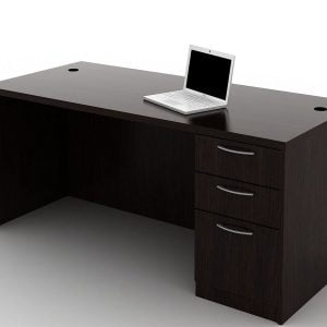 OFW TL Single Pedestal Desk with BBF 30x66