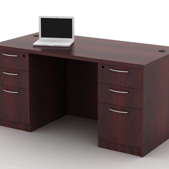 OFW TL Double Pedestal Desk with BBF 30x60
