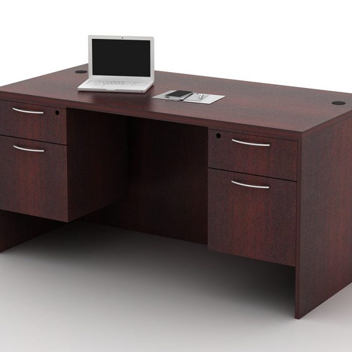 OFW TL Double Pedestal Desk with BF 30x60