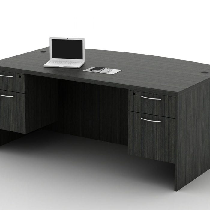 OFW TL Double Pedestal Desk with BF 36x72