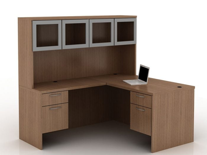 OFW TL L-Shape Desk with Glass Hutch BF 30x60