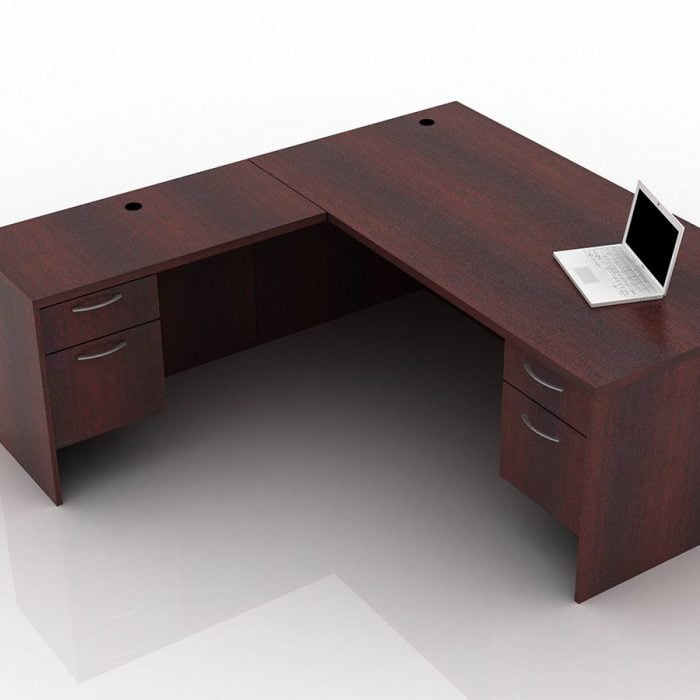 OFW TL L-Shape Rectangular Desk with BF 36x72
