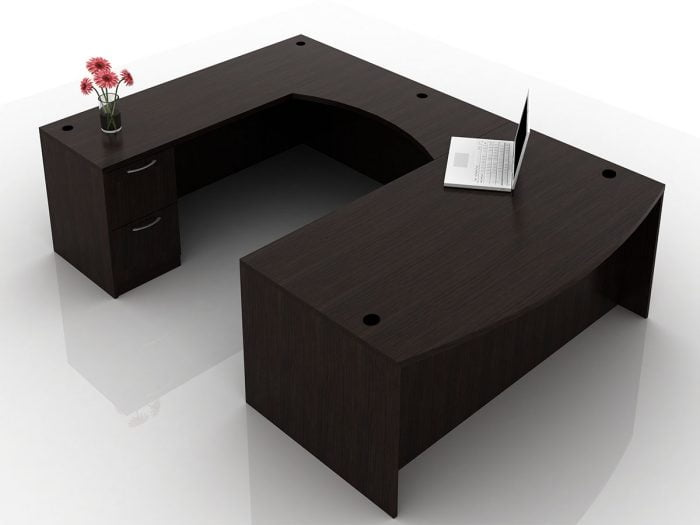 OFW TL U-Shape Desk with BBF & FF 36x72