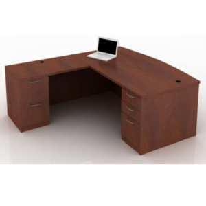 This is a picture of an OFW TL L-Shape Desk with BBF.