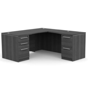 This is a picture of an OFW VL L-Shape Desk with Laminate Front.