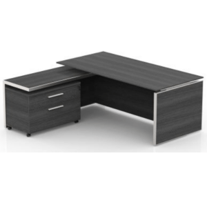 This is a picture of an OFW VL L-Shape Laminate Top Executive Desk.