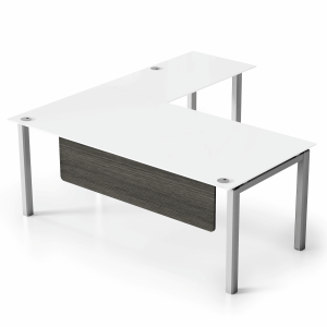 "VL 6' x 6'6"" Glass L-Shape Desk"