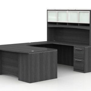 OFW VL U-Shape Desk with Hutch and Laminate Front