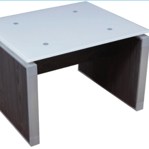 This is a picture of an OFW VL Glass End Table.