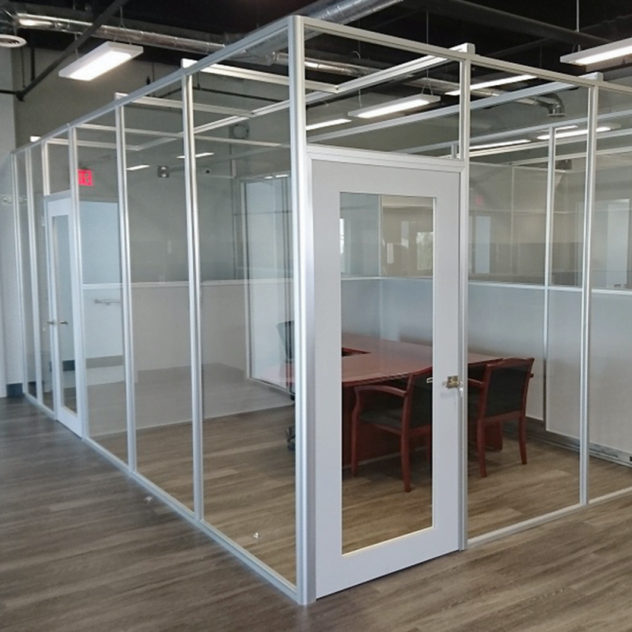 This is a picture of a Teilen Office Partition wall systems.